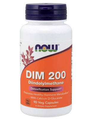 NOW FOODS DIM 200 w/ CALCIUM D-GLUCARATE 90 VCAPS
