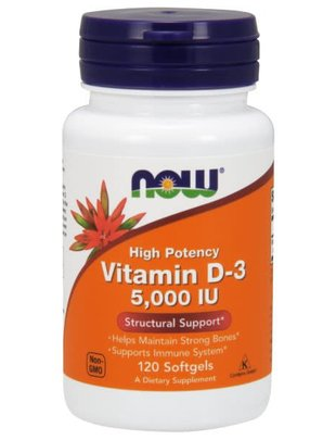 NOW FOODS D-3 5,000 IU 120 softgels