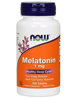 NOW FOODS MELATONIN 1mg 100 Tablets