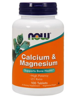 NOW FOODS CAL- MAG 500/250mg 100 TABS