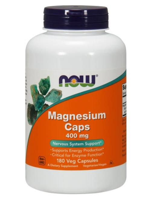 NOW FOODS MAGNESIUM 400mg 180 VCAPS