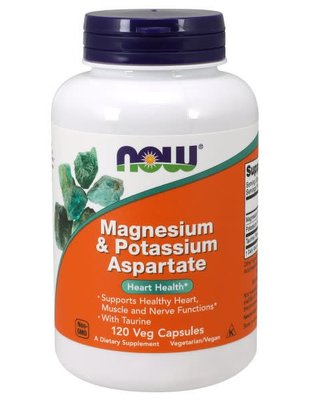 NOW FOODS MAG/POTASSIUM ASPARTATE  120 VCAPS