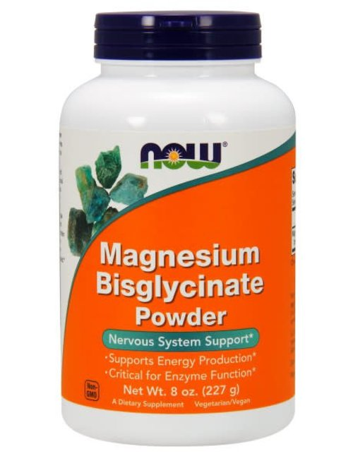 NOW FOODS MAGNESIUM BISGLYCINATE POWDER  8 OZ