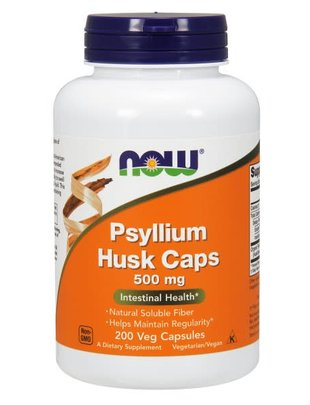 NOW FOODS PSYLLIUM HUSK 500mg 200 VCAPS