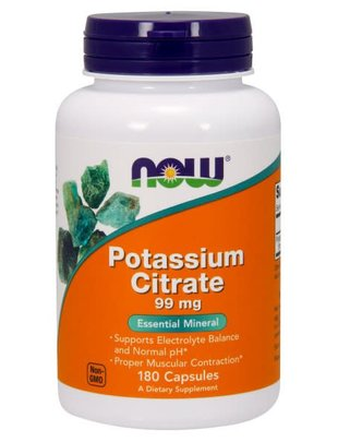 NOW FOODS POTASSIUM CITRATE 99mg 180caps