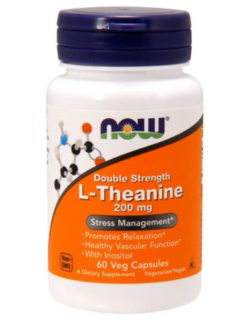 NOW FOODS DOUBLE STRENGTH L-THEANINE 200mg 60 caps