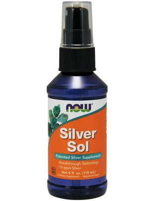 NOW FOODS SILVER SOL 10 PPM LIQUID 4 FL. OZ.