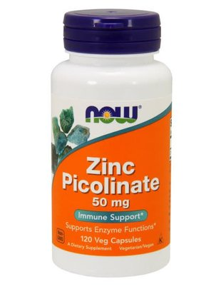 NOW FOODS ZINC PICOLINATE 50mg 120caps