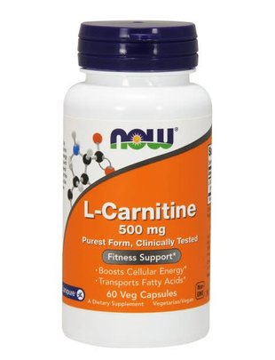 NOW FOODS CARNITINE 500mg 60 VCAPS