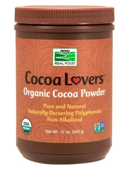 NOW FOODS COCOAPOWDER PURE ORGANIC 12 OZ