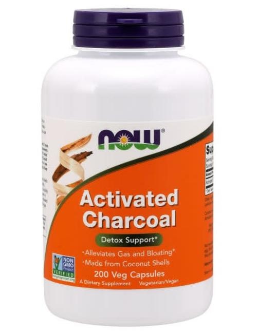 NOW FOODS ACTIVATED CHARCOAL 200 VCAPS