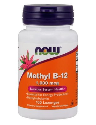 NOW FOODS METHYL B-12 1,000mcg 100 LOZ