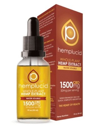 HEMPLUCID HEMPLUCID WATER SOLUBLE 1500 MG CBD
