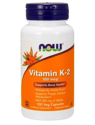 NOW FOODS VITAMIN K-2 100mcg 100 VCAPS