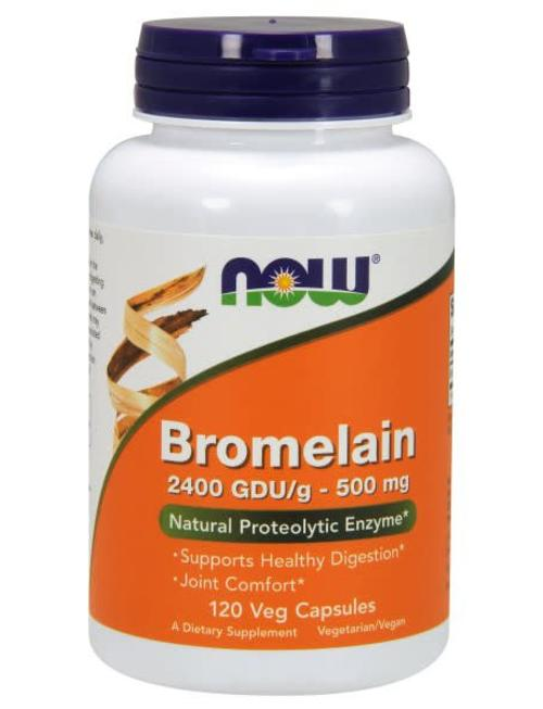 NOW FOODS BROMELAIN 500MG/2400GDU 120 VCAPS
