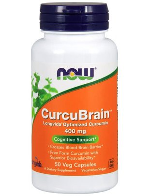 NOW FOODS CURCUBRAIN LONGVIDA 400 MG 50 VCAPS