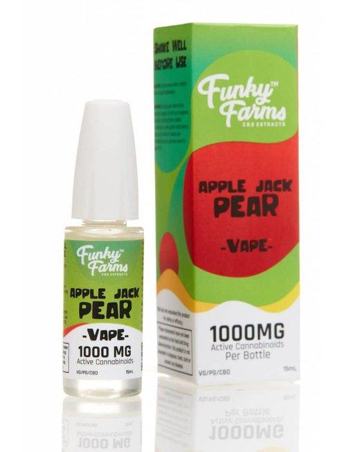 FUNKY FARMS APPLE JACK PEAR E-LIQUID 1000MG