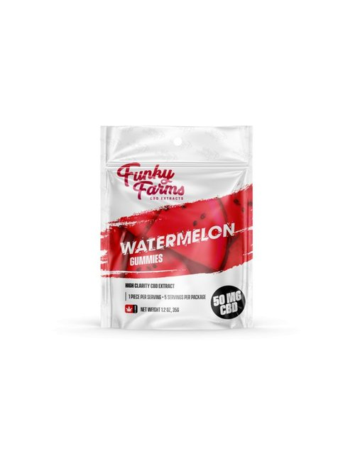FUNKY FARMS CBD GUMMIES WATERMELON single
