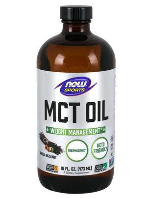 NOW SPORTS MCT OIL - VANILLAHAZELNUT FLAVOR 16 FL OZ