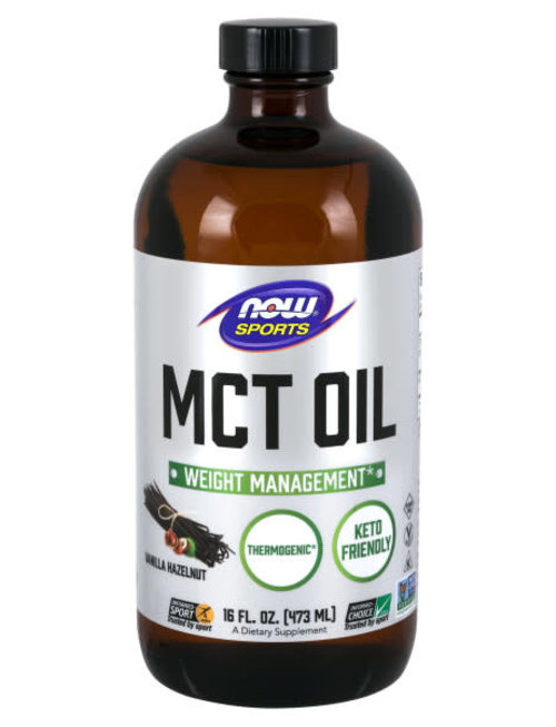 NOW SPORTS MCT OIL - CHOCOLATE MOCHA FLAVOR 16 FL OZ