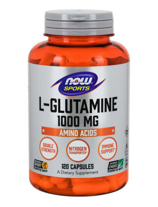 NOW FOODS L-GLUTAMINE DOUBLE STRENGTH 1000mg 120c