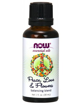 NOW FOODS PEACE, LOVE & FLOWERS OIL BLEND  1 OZ