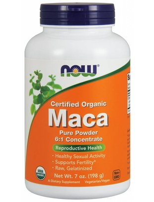 NOW FOODS MACA 6:1 CONC POWDER ORG 7 OZ