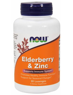 NOW FOODS ELDER-ZINC  30 LOZ