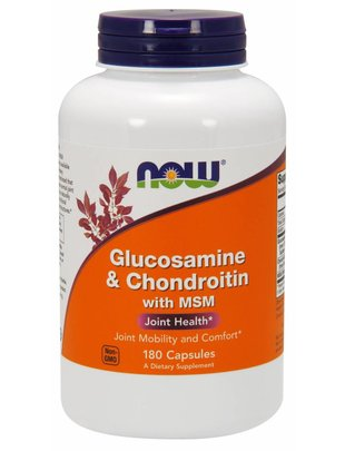 NOW FOODS GLUCOSAMINE & CHONDROITIN w/MSM 180CP