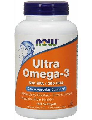 NOW FOODS ULTRA OMEGA 3-D SOFTGELS  180 SG