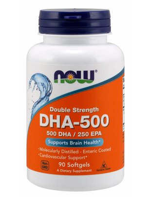 NOW FOODS DOUBLE STRENGTH DHA-500/ 250EPA