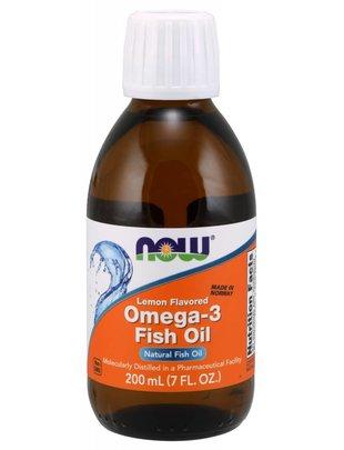 NOW FOODS OMEGA-3 FISH OIL LEMON  200 ML (7 OZ)