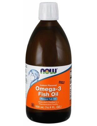 NOW FOODS OMEGA-3 LEMON FISH OIL (16.9 FL OZ)