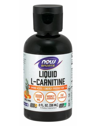NOW FOODS LIQUID L-CARNITINE TROPICAL PUNCH 2OZ
