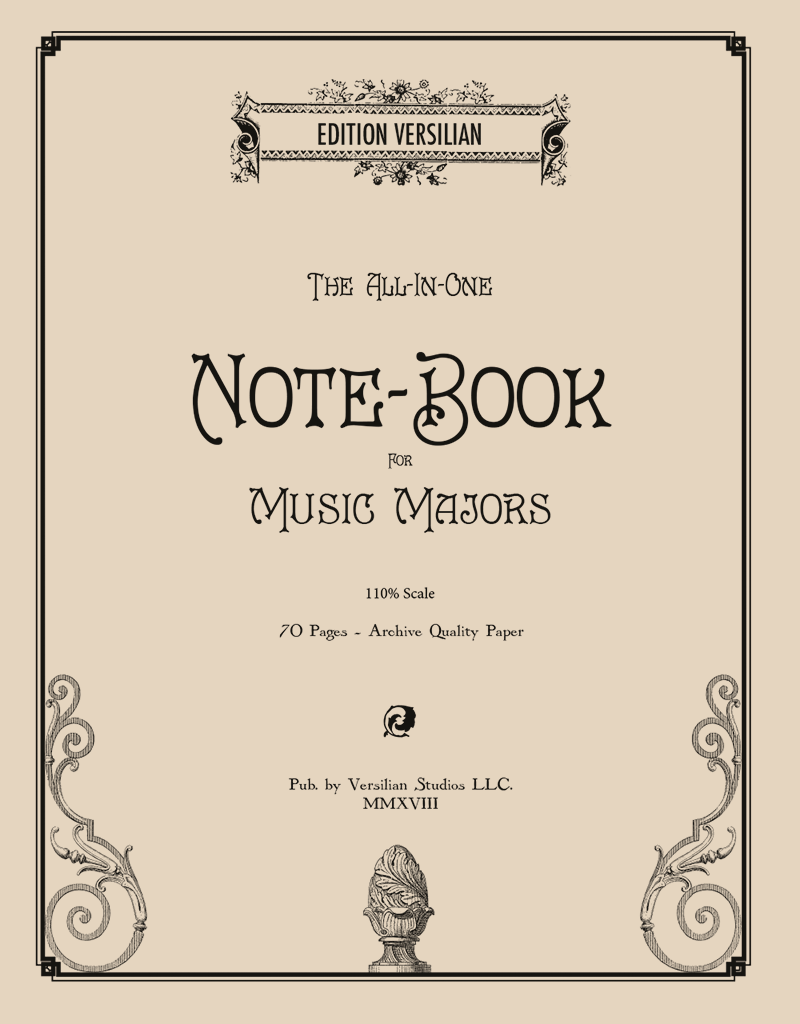 Edition Versilian The All-In-One Notebook for Music Majors