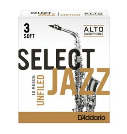 D'Addario D'Addario Select Jazz Unfiled Alto Sax Reeds
