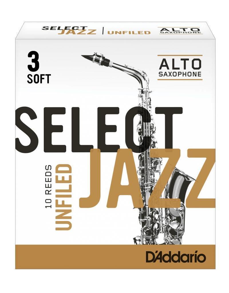 D'Addario D'Addario Select Jazz Unfiled Alto Sax Reeds