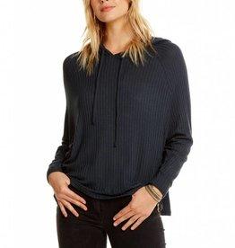 thermal raglan sleeve dolman pullover hoodie