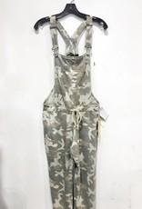 vintage havana camo print fleece overalls