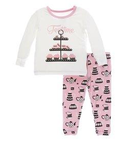 kickee pants teatime print long sleeve pajama set