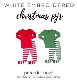 embroidered christmas pajamas