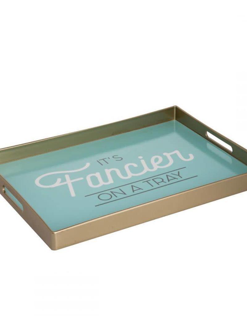 fancier on a tray