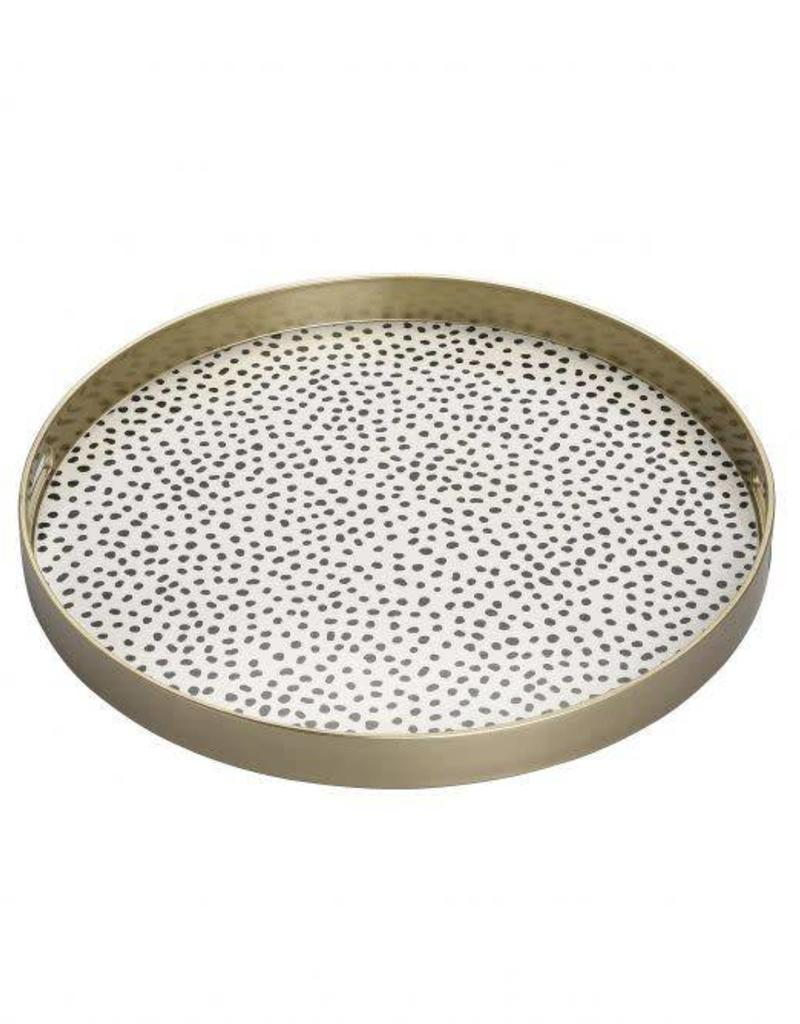 black dots decorative tray