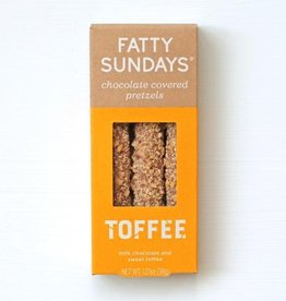 fatty sundays toffee-milk choc and sweet toffee pretzels FINAL SALE