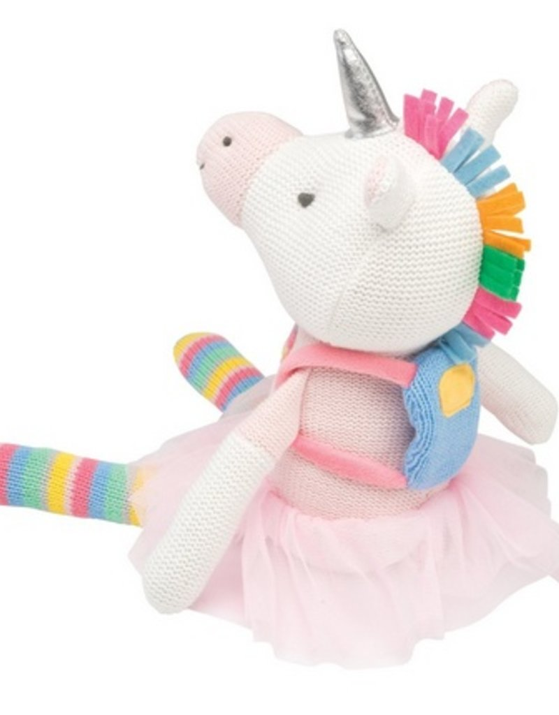 "knittie unicorn bright 10"""