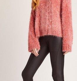 eyelash kisses cable knit sweater