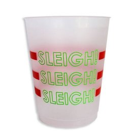 packed party sleigh cup stack