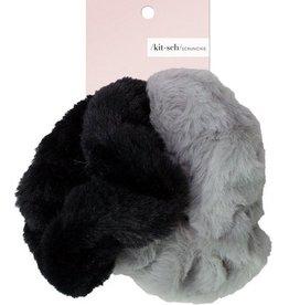 faux fur scrunchies