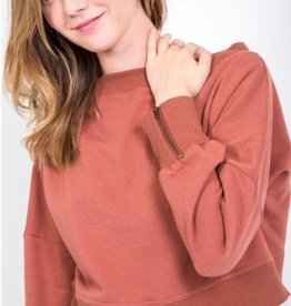 mandi zipper detailed sweatshirt
