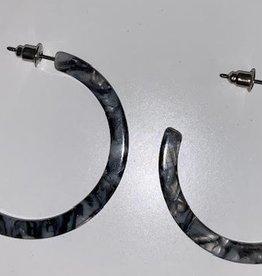 marcy grey mini hoop